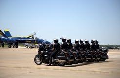 Policía en expo de la potencia de aire Foto de archivo libre de regalías