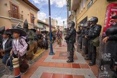 Policía en Inti Raymi en Ecuador Imagen de archivo libre de regalías
