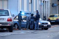 Policía en la acción Imagen de archivo libre de regalías