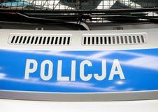 Policía en Polonia Imagen de archivo libre de regalías