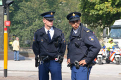 Policía en Prinsjesdag Fotos de archivo