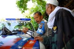 Policía indonesia Imagen de archivo libre de regalías