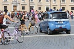 Policía italiana en el Vaticano Imagen de archivo libre de regalías
