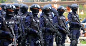 Policía malasia real (fuerza especial) imagen de archivo libre de regalías
