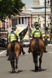 Policía metropolitana montada imagen de archivo