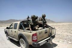 Policía militar del ejército afgano Imágenes de archivo libres de regalías