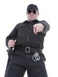 Policía que ordena Foto de archivo