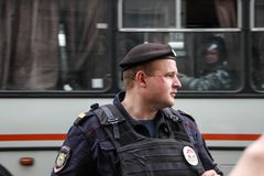 Policía rusa Imagen de archivo