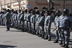 Policía rusa, pelotón especial (OMON) Imagenes de archivo