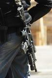 Policía y rifle 3 Imagen de archivo libre de regalías