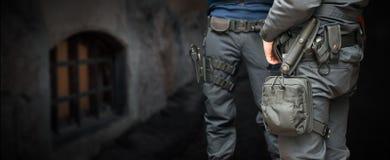 Policías armados Imagen de archivo libre de regalías