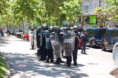 Policías del alboroto Fotografía de archivo libre de regalías