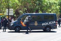 Policías del alboroto Fotografía de archivo