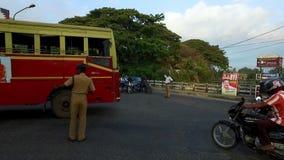 Policías en deber del tráfico metrajes