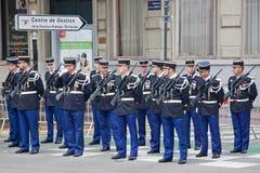 Policías en desfile Imagenes de archivo