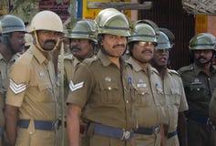 Policía de alboroto india Imagen de archivo