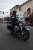 Policía de la motocicleta Imagen de archivo libre de regalías