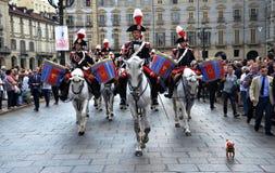 Police à cheval pendant deux cents années Photo stock