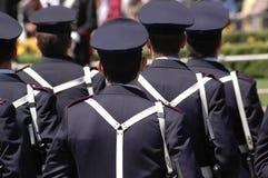 Police. Italian celebration. Pattern of policemen Stock Photo