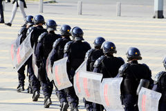 Police. Force with full equipment Stock Photography