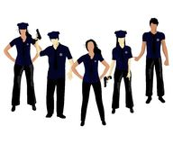 Police. This is a vector illustration of police on white Stock Photo