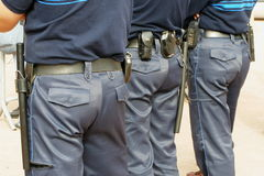 Police. French gendarmes Stock Photos
