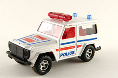 Police 4x4. A police 4X4 car on an isolated background Royalty Free Stock Photos