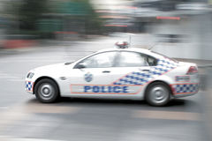 Police. Car in a hurry Royalty Free Stock Photos