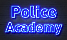 Police academy neon sign Royalty Free Stock Photo