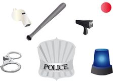 Police accessories Royalty Free Stock Images