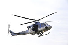 Police action 1. Detail of police descend from a helicopter Royalty Free Stock Photography