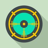 Police aim radar icon, flat style Royalty Free Stock Images