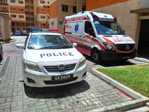 Police and ambulance stock photography