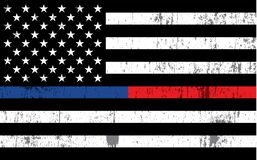 Free Police And Firefighter American Flag Background Illustration Royalty Free Stock Photos - 170139518