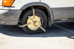 Police anti-theft device Royalty Free Stock Photography