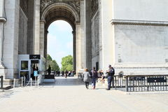Police on Arc de Triomphe Stock Photography