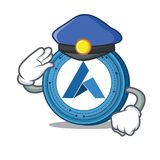 Police Ardor coin character cartoon. Vector illustration Royalty Free Stock Images