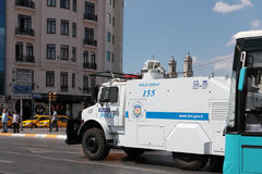 Police armored car in Istanbul, Turkey Royalty Free Stock Images