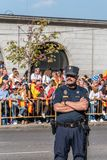 Police in the army parade for the National Day  of Spain Stock Photography
