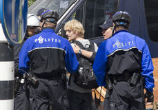 Police Arrest Demonstrator Royalty Free Stock Images