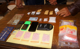 Police arrest drug dealer Royalty Free Stock Photo