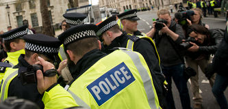 Police Arrest - Protest March - London Stock Image