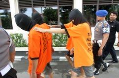Police arrested drug dealer. Police arrest drug dealers in the city of Solo, Central Java, Indonesia Royalty Free Stock Photos