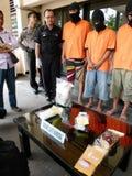 Police arrested drug dealer Royalty Free Stock Photos