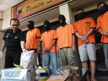 Police arrested drug dealer Stock Photography