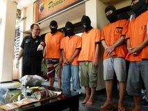 Police arrested drug dealer Stock Photos