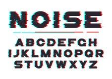 Police audacieuse décorative avec le bruit numérique, déformation, problème Photographie stock libre de droits