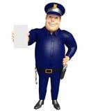 Police avec la pose mobile Photo libre de droits