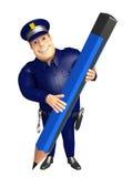 Police avec le crayon Images libres de droits