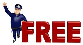 Police avec le signe gratuit Images libres de droits